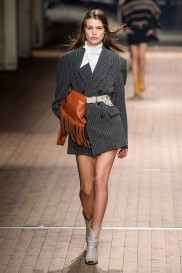 isabel-marant-fall-2018-runway-oversized-blazer-bow-blouse-fringed-blouse-cowboy-boots